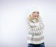 Beautiful blonde woman - wintertime Royalty Free Stock Photography