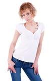 beautiful blonde woman young Стоковое Фото