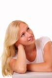 Beautiful blonde young woman Royalty Free Stock Photos