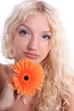 Beautiful blonde young woman Royalty Free Stock Images