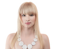 Beautiful blonde young woman Stock Image