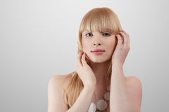 Beautiful blonde young woman Royalty Free Stock Photography