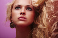 Beautiful blonde young woman Stock Photography
