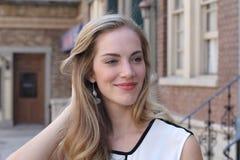 Beautiful blonde young woman. A Beautiful blonde young woman stock photo