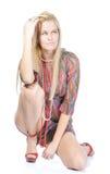 Beautiful blondy posing Stock Photo