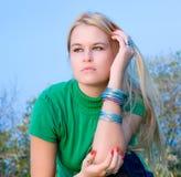 Beautiful blondy woman posing Stock Photo