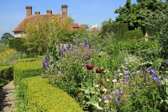 Blooming plants in Great Dixter House & Gardens. stock photo