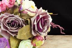 Beautiful blossom or flower purple dark tones on black backgroun Stock Photography