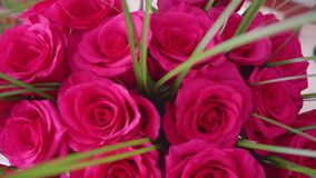 Beautiful blossoms of red roses. Bouquet of flowers close-up. Beautiful blossoms of red roses. Bouquet of flowers stock footage