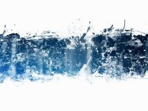 Blue Abstract Artistic Watercolor Paint Background. Beautiful Blue Abstract Artistic Watercolor Paint Background vector illustration