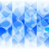 Beautiful blue abstract geometric seamless pattern vector illustration Royalty Free Stock Photography