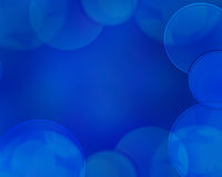 Beautiful blue background with some blurred lights on it.  Royalty Free Stock Image