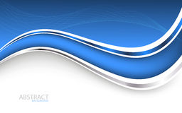 Beautiful blue background. Vector Illustration Royalty Free Stock Photos