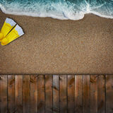 Beautiful blue beach Stock Image