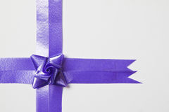 Beautiful blue bow Royalty Free Stock Images