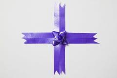 Beautiful blue bow Stock Photos