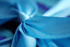Beautiful blue bow Royalty Free Stock Photography