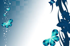 beautiful blue butterfly, abstrack background Stock Photos