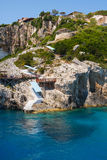 Beautiful blue caves on Zakynthos Stock Images