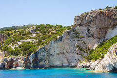 Beautiful blue caves on Zakynthos Stock Photos
