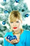 Beautiful Blue Christmas Royalty Free Stock Image