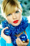 Beautiful Blue Christmas Stock Photography