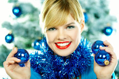 Beautiful Blue Christmas Royalty Free Stock Images