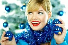 Beautiful Blue Christmas Stock Image