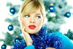Beautiful Blue Christmas Royalty Free Stock Photo