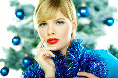 Beautiful Blue Christmas Royalty Free Stock Image