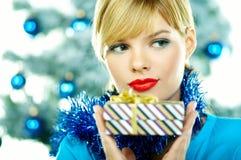 Beautiful Blue Christmas Stock Photography