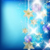 Beautiful blue christmas background. Royalty Free Stock Photos