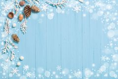 Beautiful blue  Christmas background. The beautiful blue  Christmas background Royalty Free Stock Photography