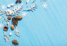 Beautiful blue  Christmas background Royalty Free Stock Photography
