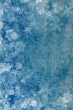 Beautiful blue Christmas background with snowflakes Royalty Free Stock Image