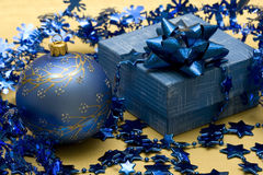 Beautiful Blue Christmas Ball Royalty Free Stock Images