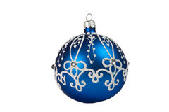 Beautiful blue Christmas ball Royalty Free Stock Photos