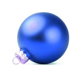 Beautiful blue Christmas ball Stock Photography
