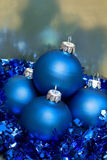 Beautiful blue Christmas balls Stock Photo