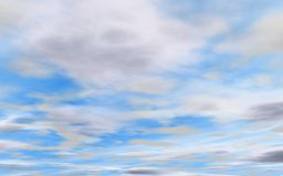 Beautiful blue cloudy sky Royalty Free Stock Image