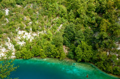 Beautiful blue color in Croatian lakes Royalty Free Stock Photos