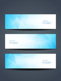 Beautiful blue color header designs. Stock Photography