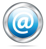 Beautiful blue contact button Royalty Free Stock Images