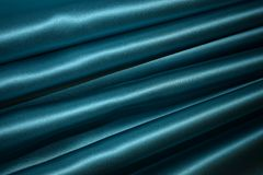 Beautiful blue curtain without drawing royalty free stock images