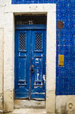 Beautiful Blue Door in Lisbon. Portugal royalty free stock photography