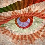 Abstract blue eye. A beautiful blue eye. Low poly style illustration Stock Photos