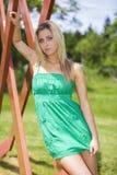 Beautiful blue eye women Stock Photography