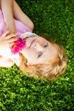 Beautiful blue-eyed blonde Stock Photo