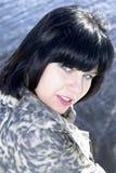 Beautiful blue-eyed brunette Stock Photo