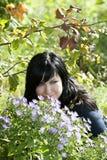 Beautiful blue-eyed brunette Stock Image